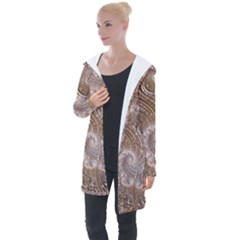 Fractal Art Pattern 3d Artwork Longline Hooded Cardigan by Pakrebo