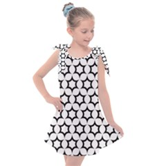Pattern Star Repeating Black White Kids  Tie Up Tunic Dress
