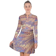 Flourish Artwork Fractal Expanding Long Sleeve Panel Dress