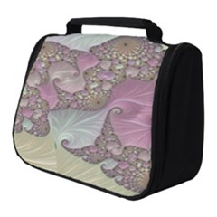 Pastels Cream Abstract Fractal Full Print Travel Pouch (small)