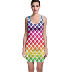 Polka Dots Spectrum Colours Dots Bodycon Dress
