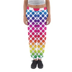 Polka Dots Spectrum Colours Dots Women s Jogger Sweatpants by Pakrebo