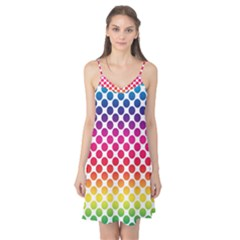 Polka Dots Spectrum Colours Dots Camis Nightgown
