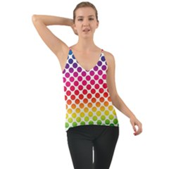 Polka Dots Spectrum Colours Dots Chiffon Cami