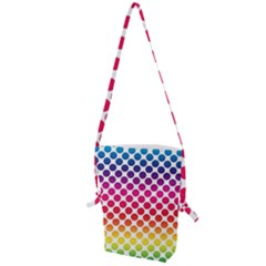 Polka Dots Spectrum Colours Dots Folding Shoulder Bag