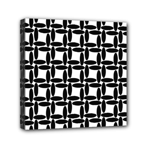 Ellipse Pattern Background Mini Canvas 6  X 6  (stretched)