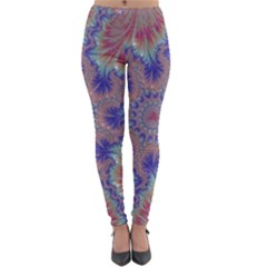 Purple Splat Fractal Art Lightweight Velour Leggings