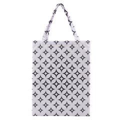 Star Curved Pattern Monochrome Classic Tote Bag by Pakrebo