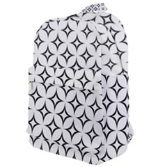 Star Curved Pattern Monochrome Classic Backpack by Pakrebo
