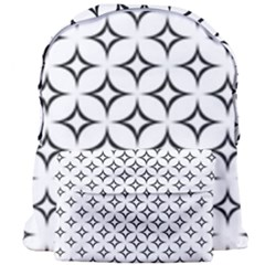 Star Curved Pattern Monochrome Giant Full Print Backpack by Pakrebo