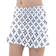 Star Curved Pattern Monochrome Tennis Skirt by Pakrebo
