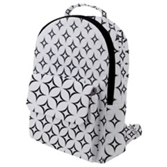 Star Curved Pattern Monochrome Flap Pocket Backpack (small) by Pakrebo
