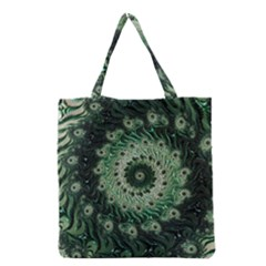 Fractal Art Spiral Mathematical Grocery Tote Bag