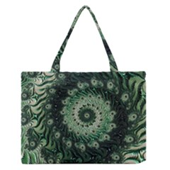 Fractal Art Spiral Mathematical Zipper Medium Tote Bag