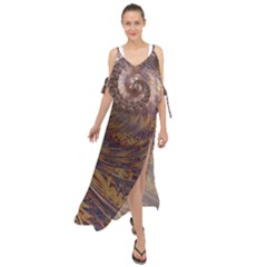 Swirl Fractal Fantasy Whirl Maxi Chiffon Cover Up Dress