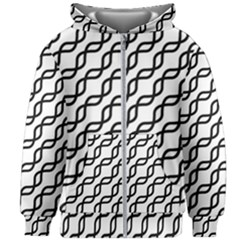 Diagonal Stripe Pattern Kids  Zipper Hoodie Without Drawstring