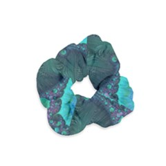 Ocean Green Sea Blue Fractal Art Velvet Scrunchie by Pakrebo