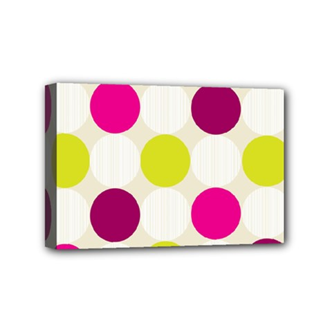 Polka Dots Spots Pattern Seamless Mini Canvas 6  X 4  (stretched) by Pakrebo