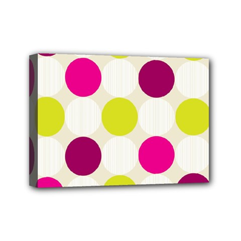 Polka Dots Spots Pattern Seamless Mini Canvas 7  X 5  (stretched) by Pakrebo