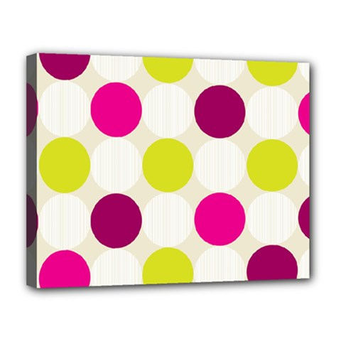 Polka Dots Spots Pattern Seamless Canvas 14  X 11  (stretched) by Pakrebo