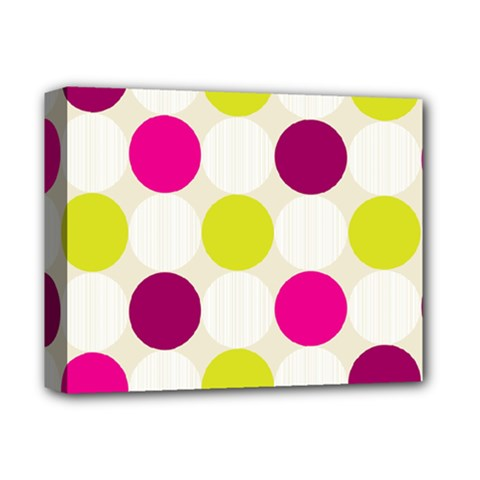 Polka Dots Spots Pattern Seamless Deluxe Canvas 14  X 11  (stretched) by Pakrebo