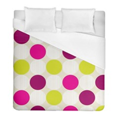 Polka Dots Spots Pattern Seamless Duvet Cover (full/ Double Size) by Pakrebo