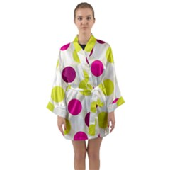 Polka Dots Spots Pattern Seamless Long Sleeve Kimono Robe by Pakrebo