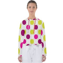Polka Dots Spots Pattern Seamless Women s Slouchy Sweat by Pakrebo