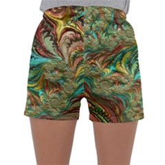Fractal Artwork Pattern Digital Sleepwear Shorts