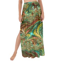 Fractal Artwork Pattern Digital Maxi Chiffon Tie Up Sarong