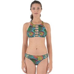 Fractal Art Colorful Pattern Perfectly Cut Out Bikini Set