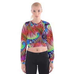 Fractal Art Fractal Colorful Cropped Sweatshirt by Pakrebo