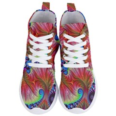 Fractal Art Fractal Colorful Women s Lightweight High Top Sneakers by Pakrebo