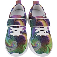 Fractal Artwork Art Swirl Vortex Kids  Velcro Strap Shoes by Pakrebo
