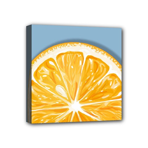 Pop Art Orange  Mini Canvas 4  X 4  (stretched) by Valentinaart
