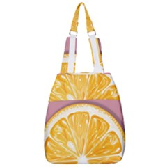 Pop Art Orange  Center Zip Backpack by Valentinaart