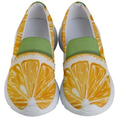 Pop Art Orange  Kids  Lightweight Slip Ons by Valentinaart