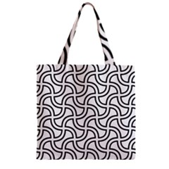 Pattern Monochrome Repeat Zipper Grocery Tote Bag