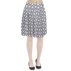 Pattern Monochrome Repeat Pleated Skirt by Pakrebo