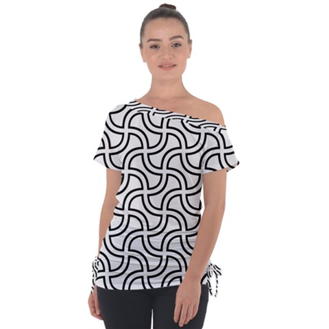 Pattern Monochrome Repeat Tie-up Tee by Pakrebo