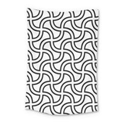 Pattern Monochrome Repeat Small Tapestry by Pakrebo