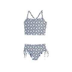 Pattern Monochrome Repeat Girls  Tankini Swimsuit by Pakrebo