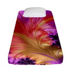 Fractal Puffy Feather Art Artwork Fitted Sheet (single Size)