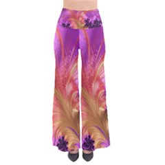 Fractal Puffy Feather Art Artwork So Vintage Palazzo Pants