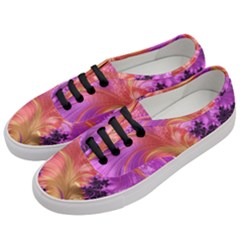 Fractal Puffy Feather Art Artwork Women s Classic Low Top Sneakers by Pakrebo