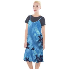 Fractal Art Feather Swirls Puffy Camis Fishtail Dress