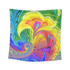 Fractal Bright Exploding Brilliant Square Tapestry (small)