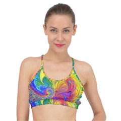 Fractal Bright Exploding Brilliant Basic Training Sports Bra