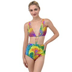 Fractal Bright Exploding Brilliant Tied Up Two Piece Swimsuit