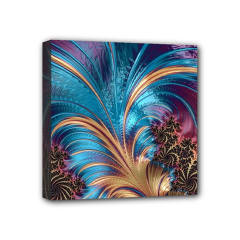 Fractal Art Artwork Psychedelic Mini Canvas 4  X 4  (stretched) by Pakrebo